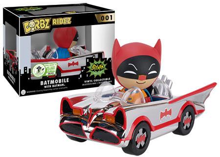 Dorbz Ridez: DC Comics - 1966 Batmobile (Chrome-Plated) - Limitiert auf 500 Stück