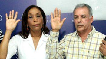 Maura Alcántara y Carlos Cepeda Suriel.
