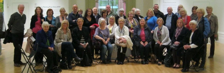 art classes, merseyside, members on a visit to the walker art gallery, liverpool