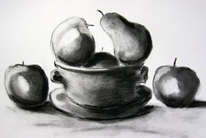 art classes southport and merseyside, still life and charcoal
