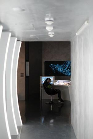 Futuristische Ausgestaltung der Ausstellungsräume © Michael Kaltenecker