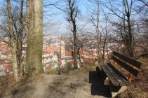 Ausblick auf die Stadt und Jodokskirche