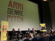 ARRI Genre Pitch mit der Jury und der Pitch-Gewinnerin Tanja Bubbel © Michael Kaltenecker