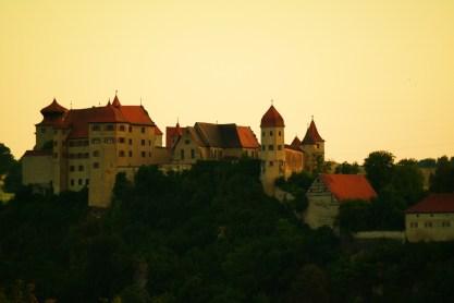 Kreative Aufnahme des Schloss Harburg