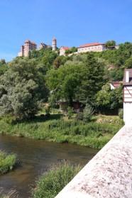Schloss Harburg von der Steinernen Brücke aus (Landschafts-Modus)