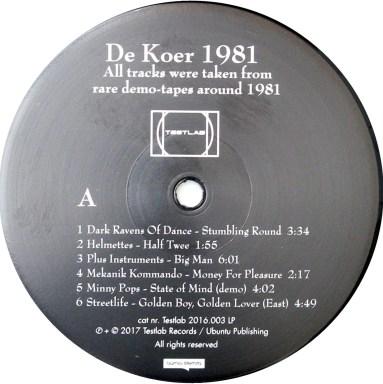 de Koer 1981 LP label A