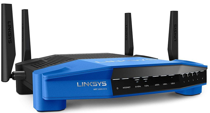 Linksys WRT1900ACS-EU Routeur Wi-Fi AC1900 MU-MIMO Open source Double bande