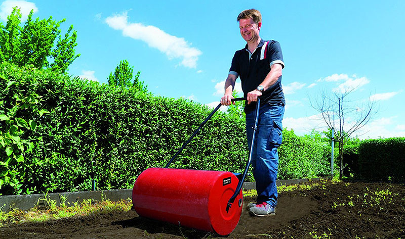 Rodillo de hierba Einhell GC-GR 57 (espesor del metal 1,5 mm, ancho del rollo 57 cm, diámetro del rollo 32 cm, rasqueta de limpieza)