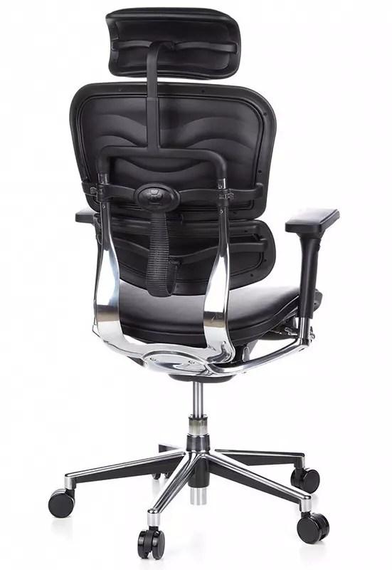 hjh Office Ergohuman Silla ejecutiva tipo silla de oficina - Cuero - Negro