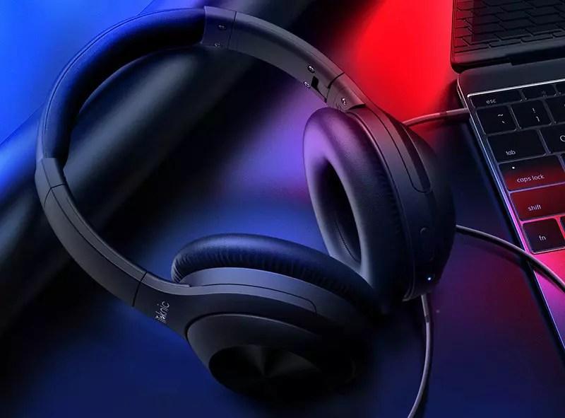 iTeknic Auricular Bluetooth Reducción de ruido Auriculares ANC activos Supra Auricular Auricular inalámbrico estéreo Bluetooth