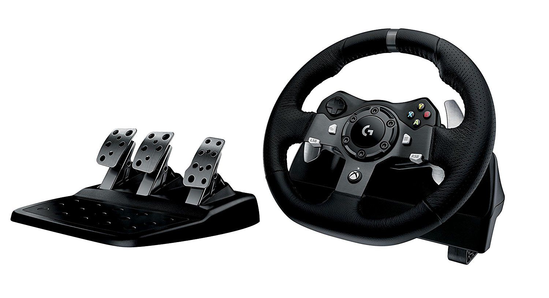 Volante Logitech G920 + pedales para Xbox One / PC Negro