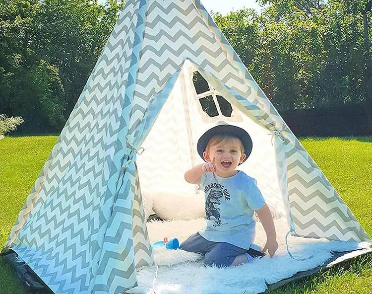 Teepee Test - Tiny Land - Tipi para niños - Gran casa de juegos sólida al aire libre plegable