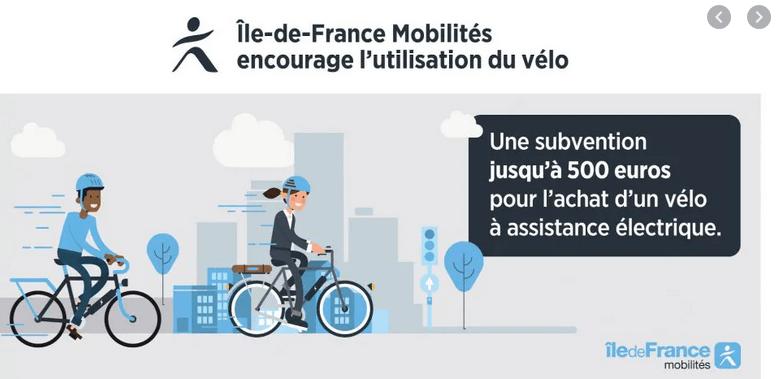 aide vélo électrique ile de france