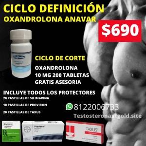 Ciclo de Definición Oxandrolona Anavar con Protectores