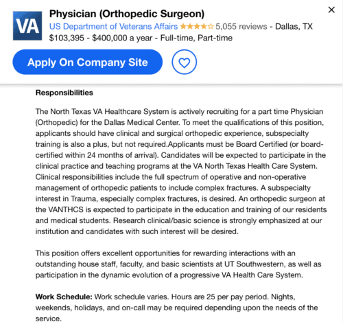 orthopedic job description