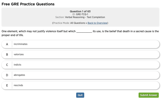 manhattan prep gre questions