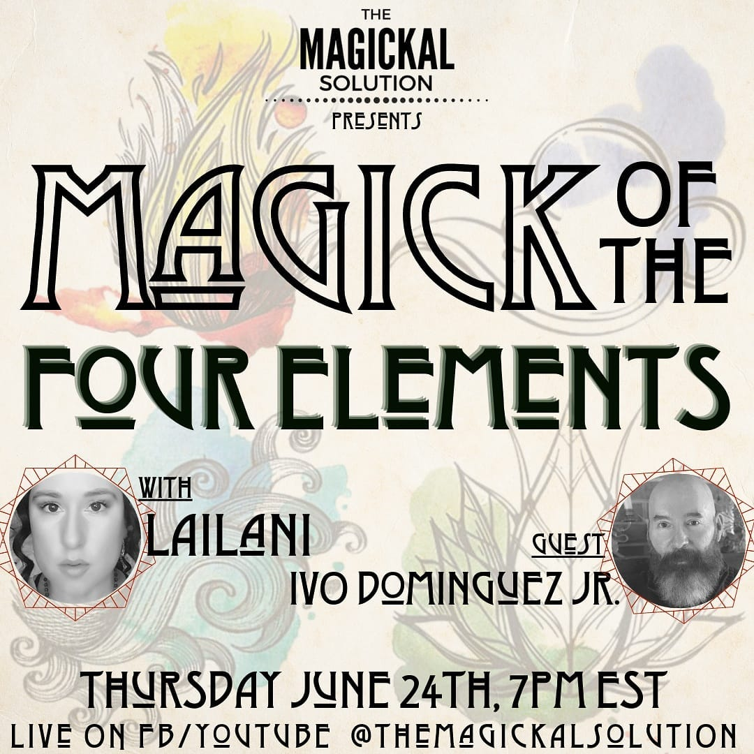 """Join Lailani of The Magickal Solution on her show THIS IS HOW WE GROW as she chats with renowned author Ivo Dominguez Jr - Author & Teacher about his new book """"Four Elements of the Wise"""""""