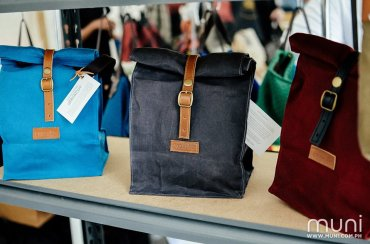 Gouache waxed canvas lunch bags to tote your own wholesome meals for the day