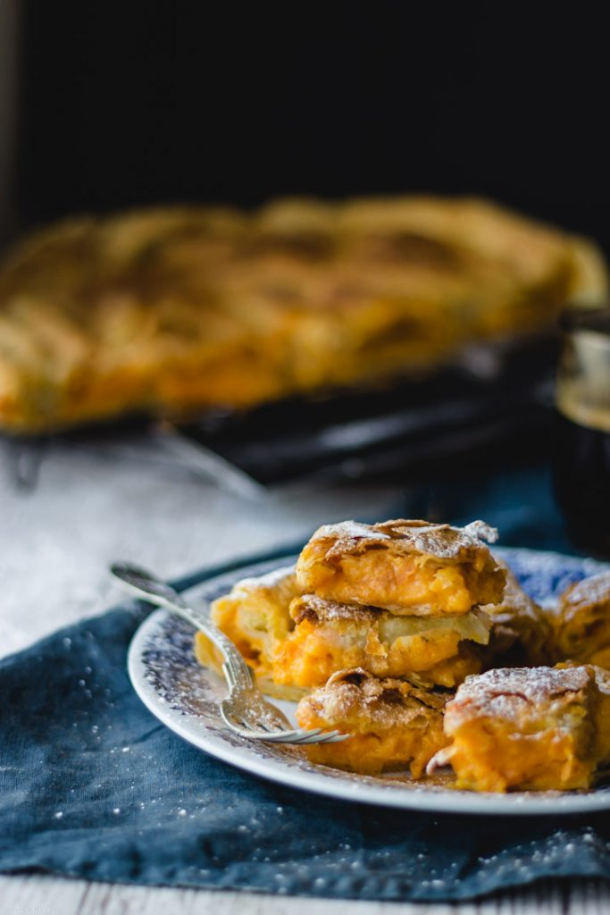 sweet pumpkin with homemade phyllo