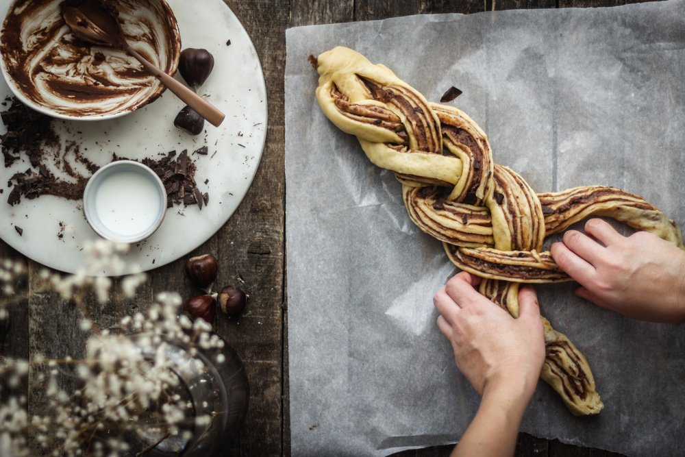 Babka with chestnut cream