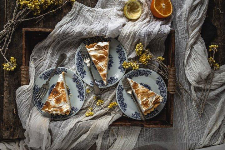 Honey swiss meringue citrus tart