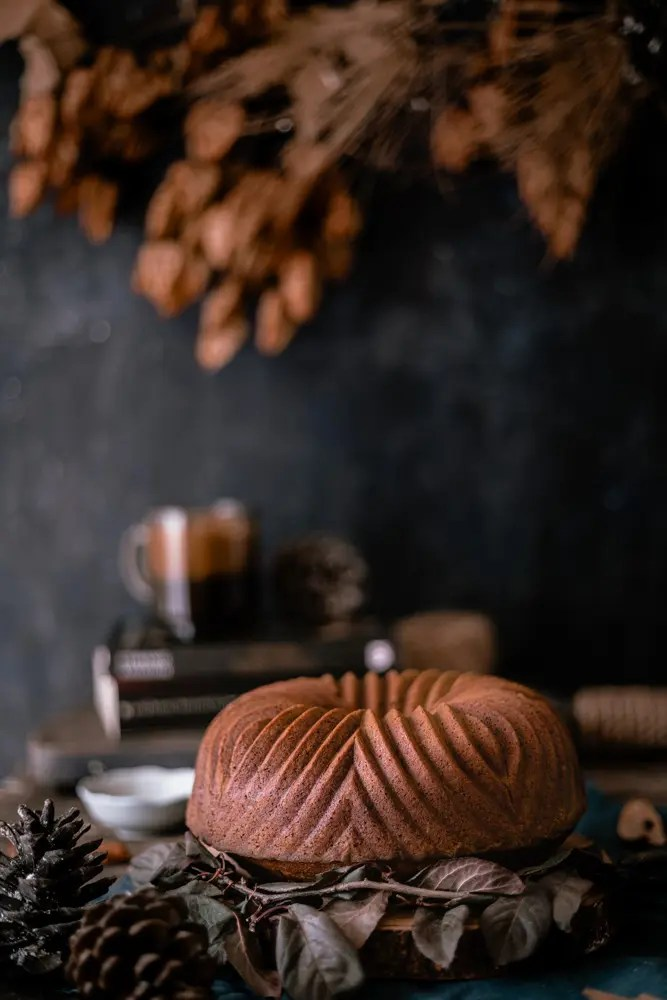 Pumpkin cake with chocolate