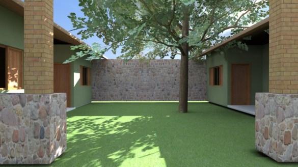 Villa - vista do páteo interno