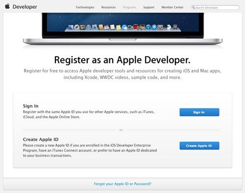 Register as an Apple Developer