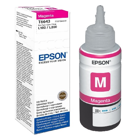 Epson T6643 magenta ink cartridge