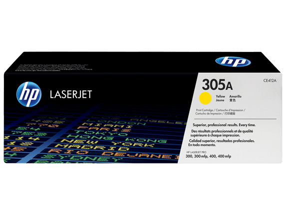 HP 305A Yellow Toner Cartridge CE412A