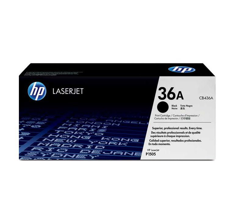 HP 36A Black Toner Cartridge CB436A