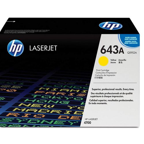 HP 643A Yellow Toner Cartridge