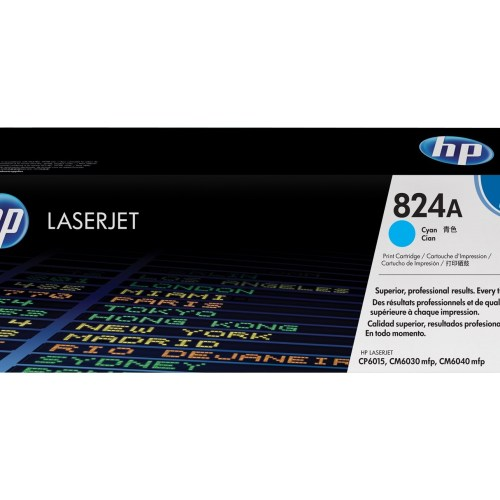 HP 824A Cyan Toner Cartridge