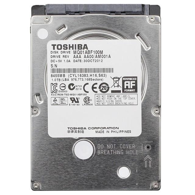 Toshiba 1TB Laptop SATA Hard drive