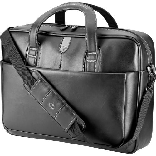 HP 17.3 professional leather top load case