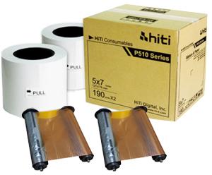 HiTi P510 5x7 Paper Ribbon Media Kit