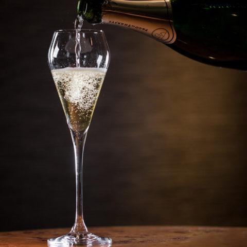 Champagne at Tết Restaurant