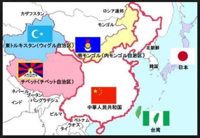 中国の侵略後の「自治区」
