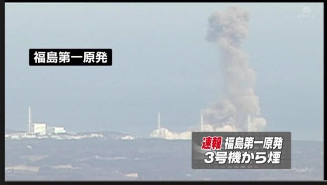 福島原発 水素爆発のニュース映像