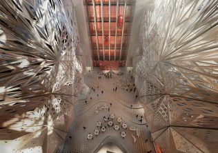 Átrio. Imagem © Zaha Hadid Architects; 2014 Melco Crown Entertainment Limited