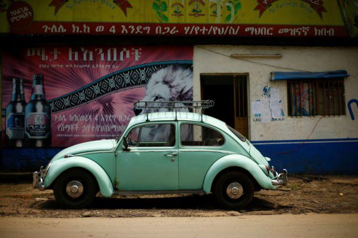 Ethiopian mechanics keep the VW Beetle alive