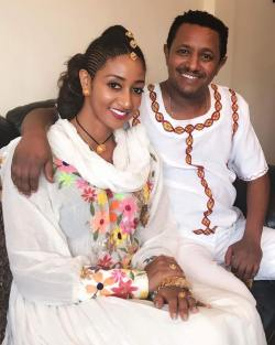 Teddy Afro and Amletset Muchie celebrating Ethiopian New Year 2010