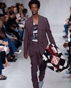 Ethiopian-born Calvin Klein model Kalib Besher