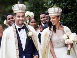 American woman marries Ethiopian prince in lavish wedding (photos)