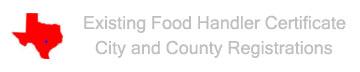 Texas Food Handlers Card Registrations