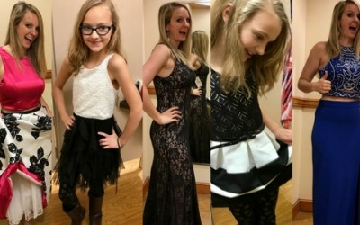 Pixie and I went dress shopping FOR FREE!!!