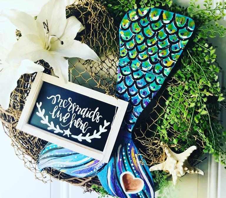 How to Make a Mermaid Wreath!