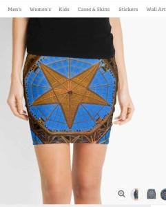 Texas Gold Star Pencil Skirts