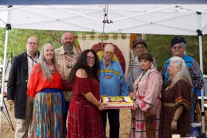 Tsalagiyi Nvdagi Tribal Officers celebrating our Bicentennial and Official State Tribal Recognition