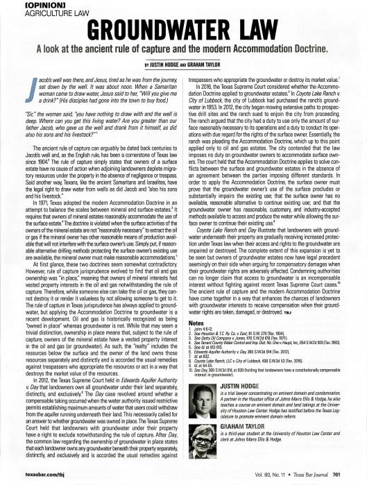 1 - 6.18.18 - JAH, GT - TX Bar J. Art. - Groundwater Law - Scan 2, Enhanced 2